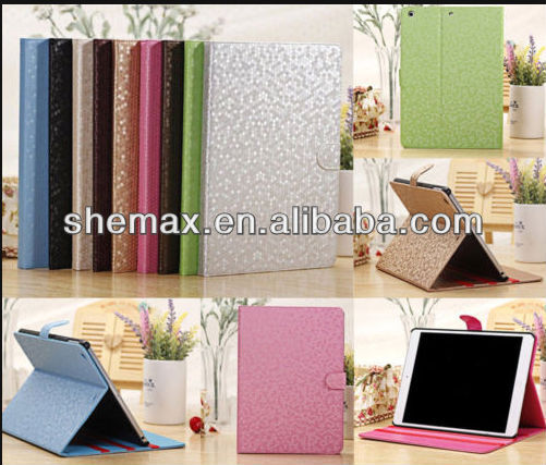 Bling Bling PU Leather Stand Smart Cover Case Skin for iPad Air