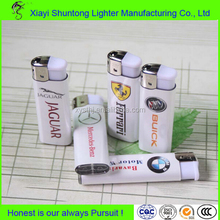 Factory wholeasle disposable plastic gas colored lighter