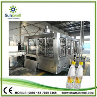 sparkling water filling plant