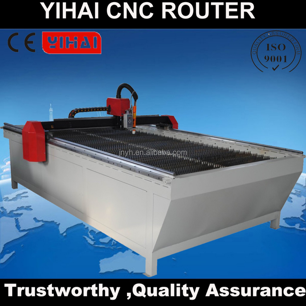 cnc plasma cutter for thickness of stainless steel/ Jinan Itech plasma metal cut machine with CE standard