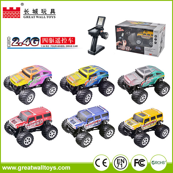 1:34 scale monster truck toys rc car made in china for boy