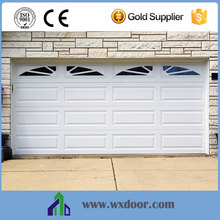 Security folding up sectional garage door with window