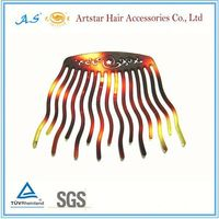 decorative plastic hair combs