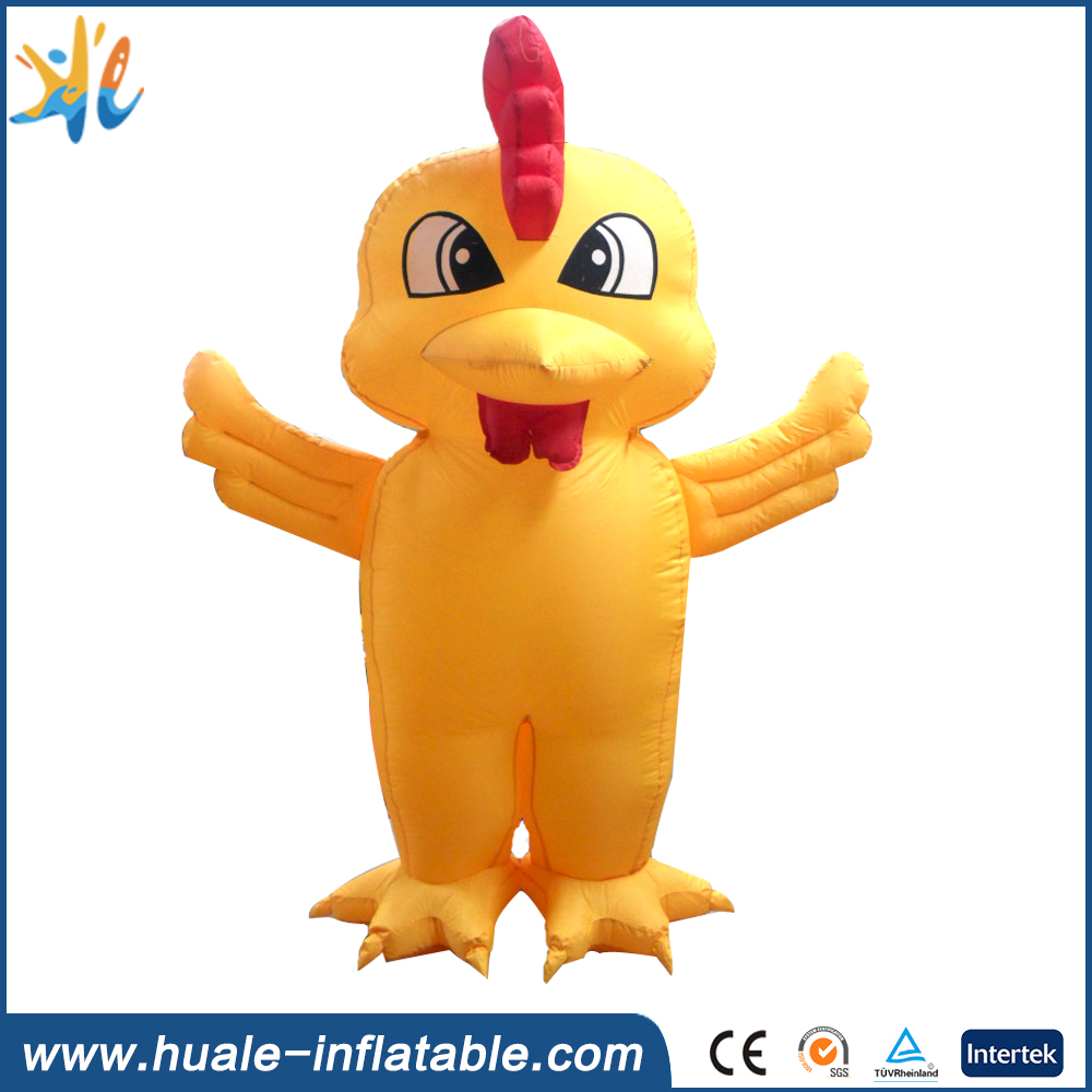 Customized inflatable chicken model , inflatable cartoon for sale
