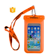 wholesale outdoor sports pvc waterproof cell phone pouch for smartphone