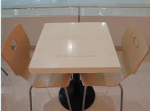custom cut marble industrial dining table top bistro table,solid surface Dining Set Dinner Table with Chairs