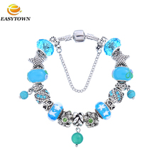 2017 trending products murano glass charm beads bracelet jewelry from YIWU jewelry factory