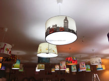 PVC Drum Lamp Shade For Hanging Lights Lamp Shade Making Supplying