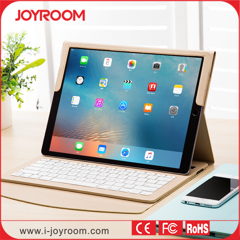 JOYROOM New arrival wireless bluetooth keyboard leather case for iPad pro