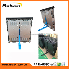 Light Weight Die Casting Magnesium Cabinet perimeter advertising Outdoor P5 P10 P16 football stadium perimeter led screen