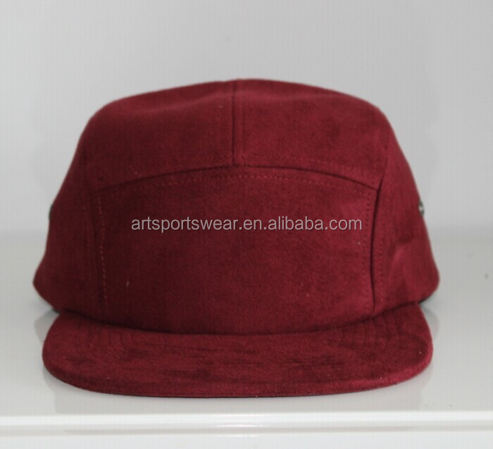 Classic Adjustable Blank 5 Panel Brim Trend Suede Cap Men Women