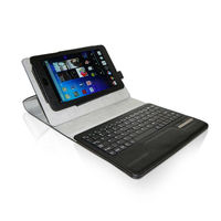 tablet case Black PU Leather 360 Degree Rotating Bluetooth Keyboard Case Cover Stand for Google Nexus 7 tablet