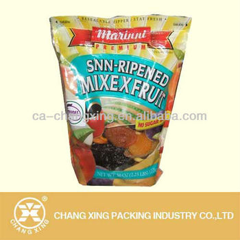 Custom print stand up fruit plastic bag with window