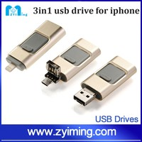 Zyiming Metal i-Flash Drive HD 100% Real 8GB - 64GB for Android otg USB Flash Drive For iPhone 5/5s/5c/6/6 Plus/ipad Pendrive