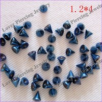 [BJ-352] Anodized Design Stainless Steel Cones For Jewelry Body Jewelry Parts