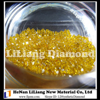 Monocrystalline HTHP Large Size Synthetic Yellow Diamond from Manufacturer