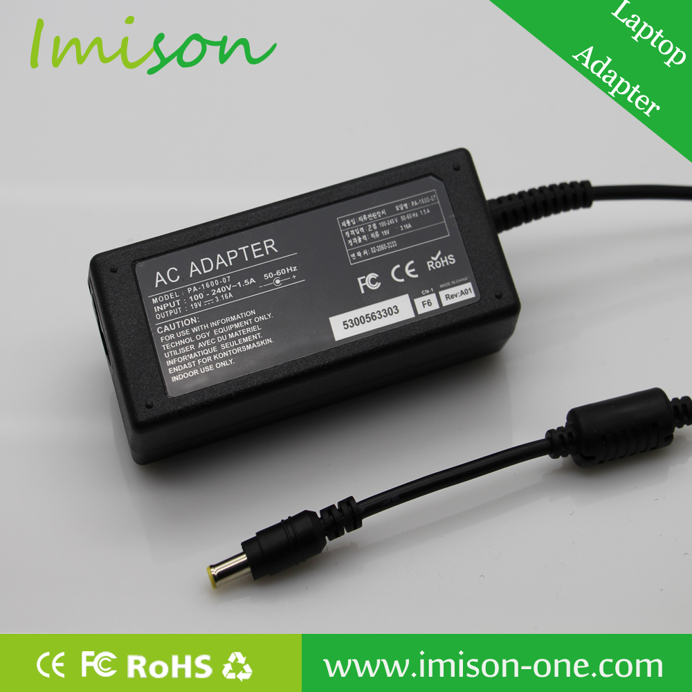 Laptop Adapter For Samsung PC Computer 19V 3.15A 65W Adapter 5.0*1.0*3.0
