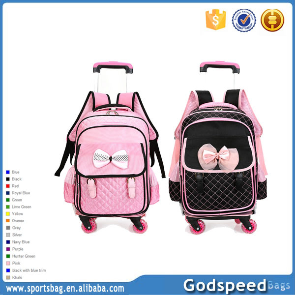 Outdoor kids trolley bag rucksack school satchel hiking bag Trolly Bag for girls