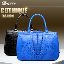 2017 High-end Customized exotic leather crocodile skin handbags for Ladies