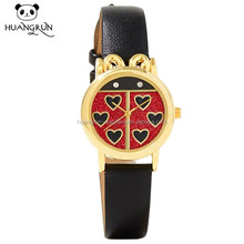 Fashion design alloy case western wrist bands ladies watches leather