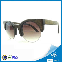 Vogue Half Rim Women Sunglasses Bamboo Brown CR39 Lens