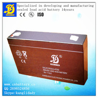 vave regulated solar street light 6v 7ah storage sealed lead acid battery