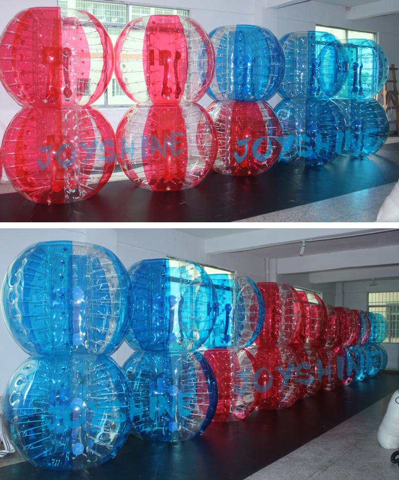 Dia 1.2m Mix Red PVC Inflatable Kisd Used Bumperball Human Body Bumper Zorb Balls Bubble Soccer Ball For Sale