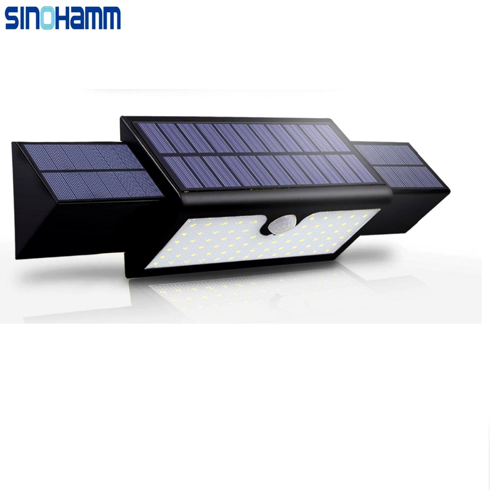 SINOHAMM 2017 Outdoor Solar Wall Lights Waterproof 71 LEDs Motion Sensor Detector