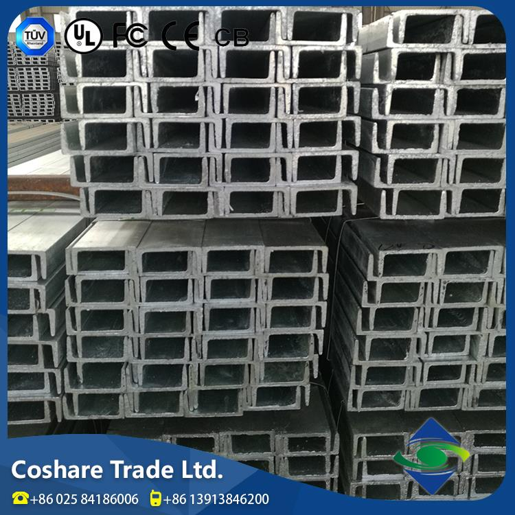 COSHARE- GSG certification Good feedback stainless u channel steel