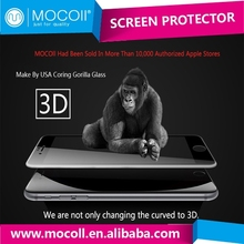 Hot Products For 3D Curved Tempered Glass Screen Protector For iPhone 6 , glass tempered screen protective film
