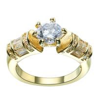 2016 gold plated fine engagement rings design stock 7 8 9 jewelry for women