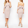 wholesale latest design fashion backless bodycon cocktail dress