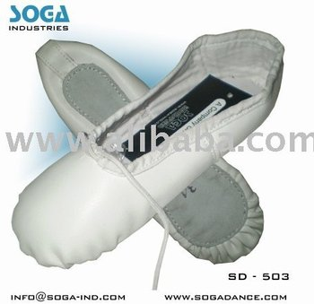 artificial leather ballet shoes