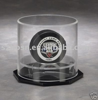 Acrylic hockey puck Lucite Display Case, Perspex Ball Showcase