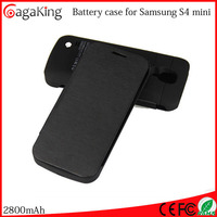 2800 mAh battery charger for Samsung Galaxy S4 MINI charger case for S4 mini plastic power supply case for s4 mini