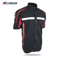 Wholesale custom polyester racing pit crew shirt with sublimation