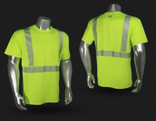 Security t-shirts,reflective tape t-shirt,t shirt with reflective tape for men high visibility workwear/hi vis t shirt