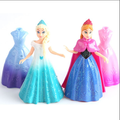 pvc Anna&Elsa princess figures