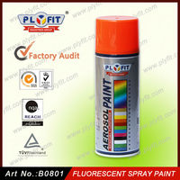 Fluorescent reflective spray paint