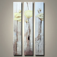 Simple flower paintings on canvas for home decoration