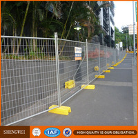 Hot dip galvanized metal portable temporary privacy fencing