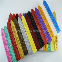 32 colored carved with wick Sealing wax candle