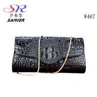 W467 Fashion trends high end luxury product crocodile leather genuine leather women clutch chain bag hand bags