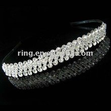 Wedding Bridal crystal veil tiara crown headbands