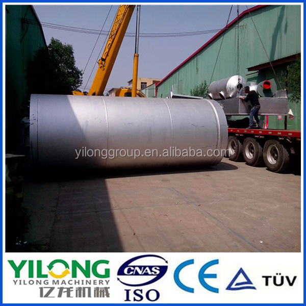 2016 Advanced waste tyre pyrolysis oil machinery With Recycling Water Cooling System