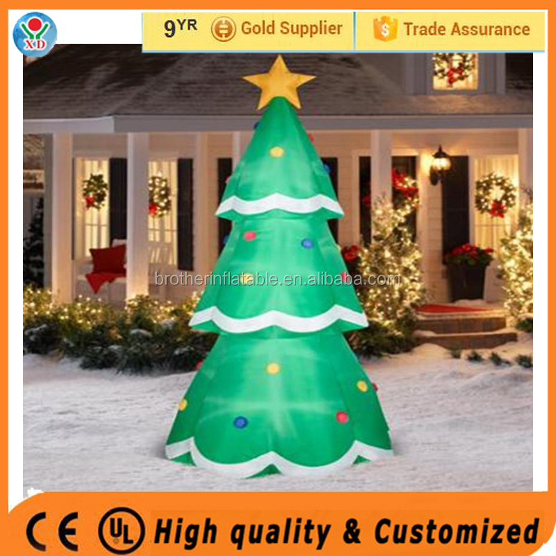 2016 New products christmas decorations glowing inflatable christmas commerical outdoor led lighted christmas cone tree