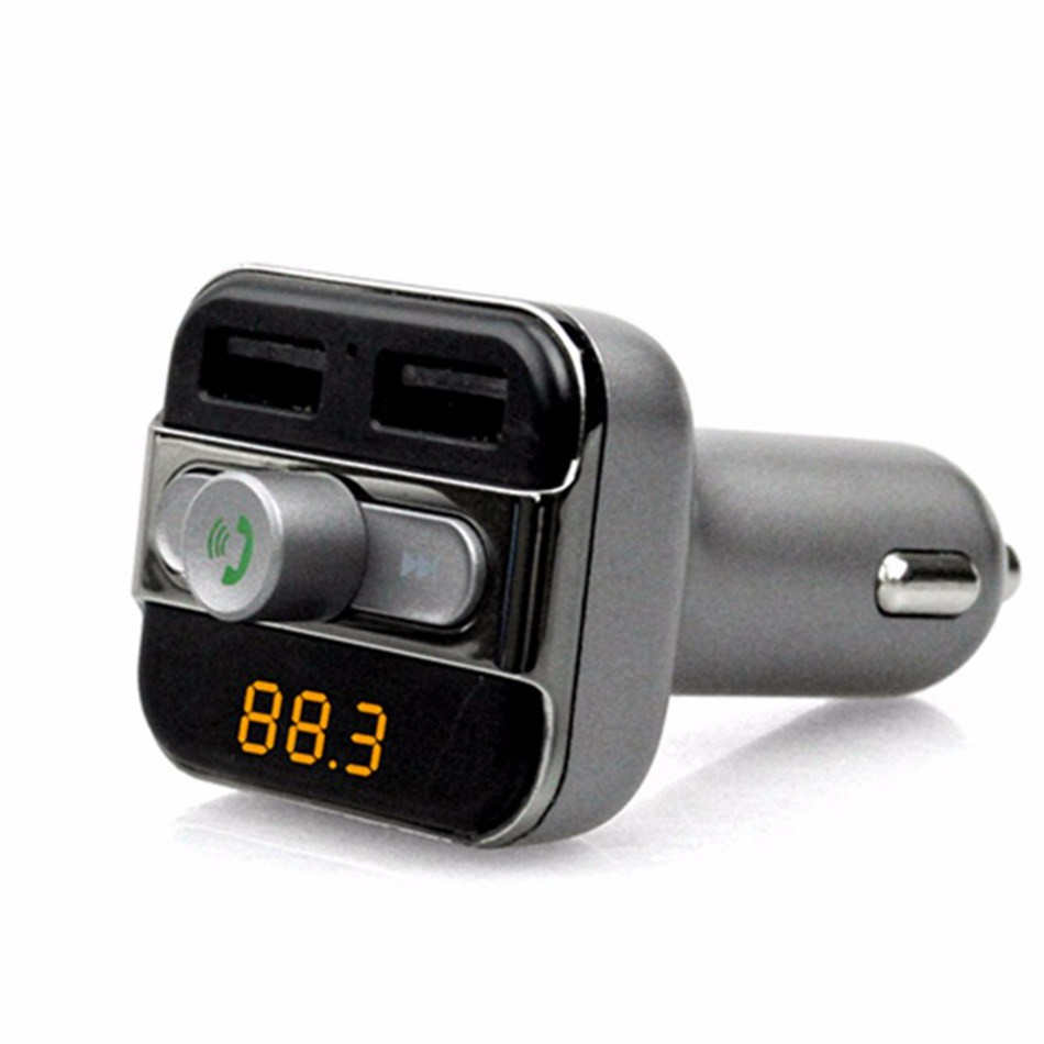 Dual 2.1A USB port Car charger kits usb charger 2 USB Ports BT20 Bluetooth Hands-free Car MP3 music Player TF card mobile phone