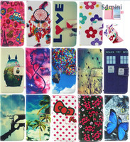 For Samsung GALAXY s4 mini more design patterns Premium PU Leather Wallet Credit Card Case leather pouch