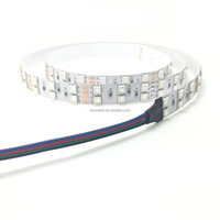UL Nonwaterproof 24V 8.64W 36LED Per Foot 16.4FT Roll RGB 3000MCD 5050 SMD Double Row LED Tape LED Strip