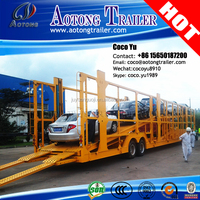 Second hand good quality 2/3 Axles 12 units Hydraulic Car/Vehicle Carrier car transporter trailer to Africa